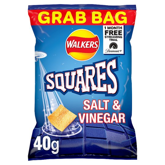 Walkers Squares Salt And Vinegar Crisps 40 G