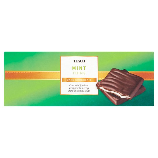 Tesco Dark Chocolate Mint Thins Carton 200G - Groceries - Tesco ...