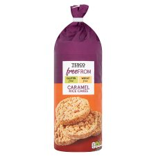 Tesco Free From Caramel Rice Cakes 165G