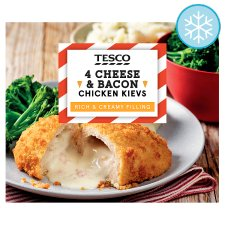 Tesco 4 Cheese And Bacon Breaded Chicken Kievs 500G