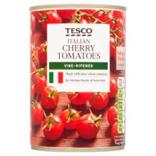 Tesco Cherry Tomatoes In Rich Tomato Juice 400G