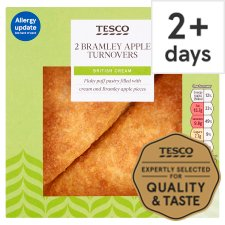 Tesco 2 Fresh Cream Bramley Apple Turnover 160G