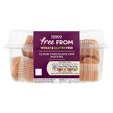Tesco Free From Chocolate Chip Mini Muffin 200G