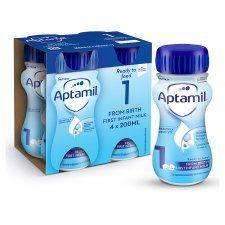 image 1 of Aptamil 1 First Milk Multipack 4X200ml Ready To Feed Liquid