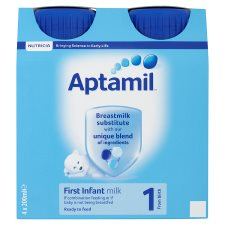 image 2 of Aptamil 1 First Milk Multipack 4X200ml Ready To Feed Liquid