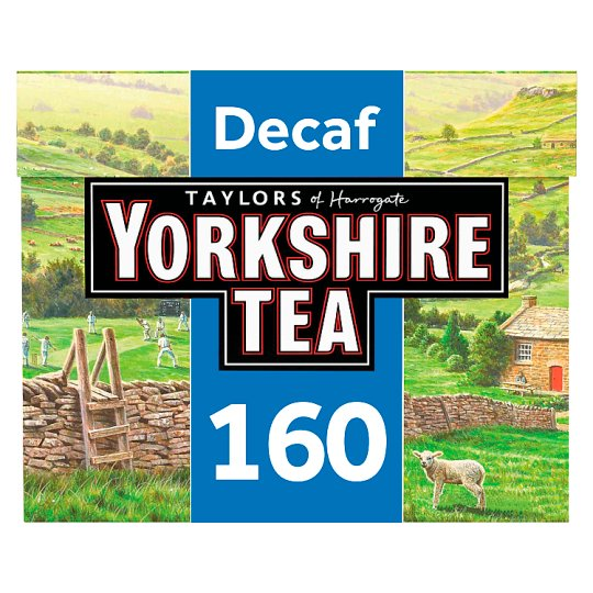 Yorkshire Decaffeinated 160 Tea Bags 500G