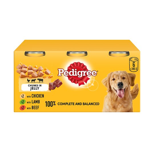 image 1 of Pedigree Dog Food Tins Mixed Variety in Jelly 6x385g