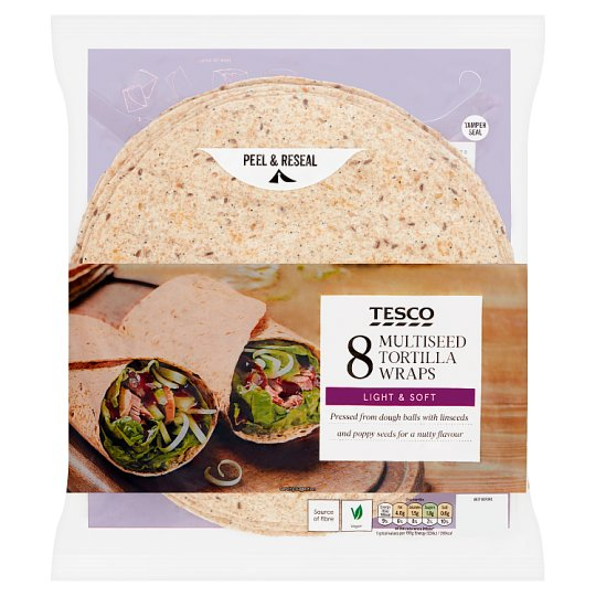 Tesco Multiseed Tortilla Wraps 8 Pack