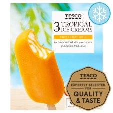 Tesco Tropical Ice Creams 3 X100ml