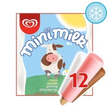 Walls Mini Milk Ice Cream Lollies 12 X35ml