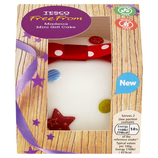 Tesco Groceries Cake Decorations : Tesco Free From Madeira Mini Gift Cake 130G - Groceries ...