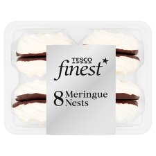 Tesco Finest 8 Meringue Nest Dark Belgian Chocolate
