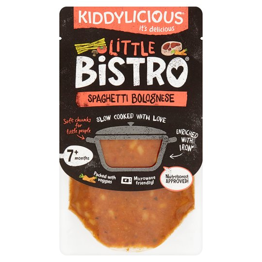 Kiddylicious Little Bistro Beef Spaghetti Bolognese 130G