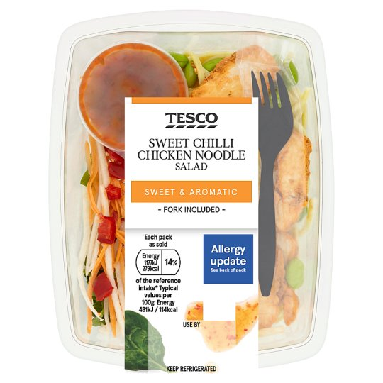 Tesco Sweet Chilli Chicken Noodle Salad 245G - Groceries ...