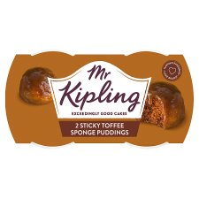 Mr.Kipling Sticky Toffee Sponge Puddings 2X95g