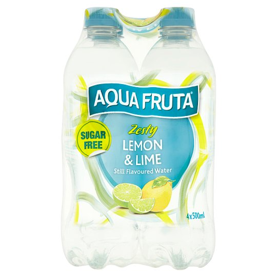 Aqua Fruta Lemon And Lime Still Water 4 X 500Ml