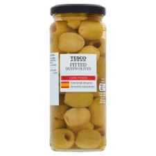 Tesco Pitted Queen Olives 340G