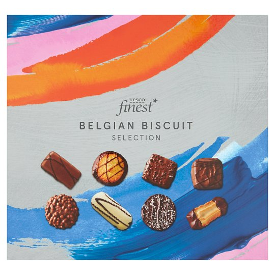 Tesco Finest Belgian Chocolate Biscuits Assortment Tin 400G