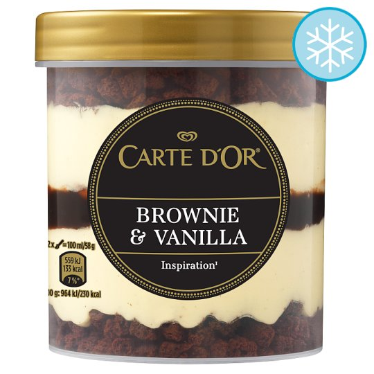 image 1 of Carte D'or Brownie And Vanilla Ice Cream 430Ml