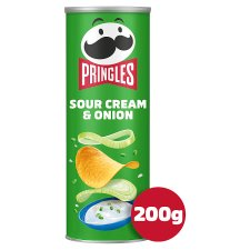Pringles Sour Cream And Onion Crisps 200G