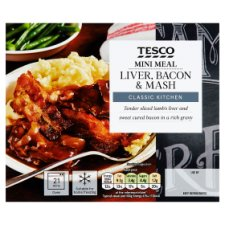 Tesco Mini Meals Liver Bacon And Mash 250G