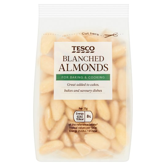 Tesco Whole Blanched Almonds 100G