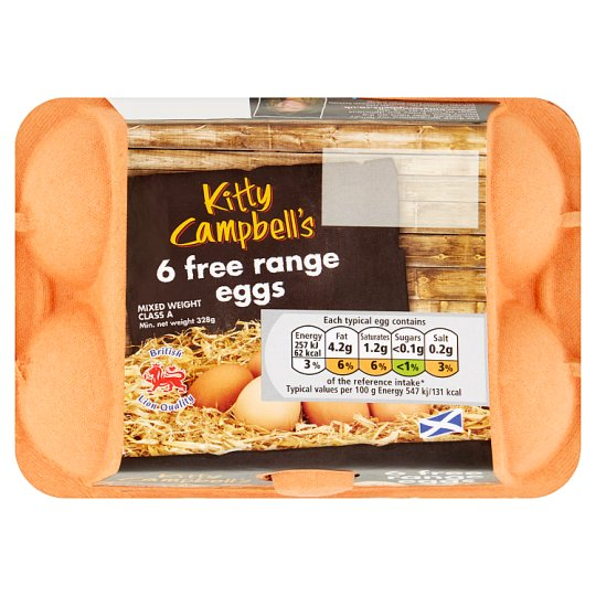 Kitty Campbell Free Range Eggs Box Of 6