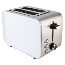 Tesco 2Tssw15 Slice Stainless 2 White Toaster