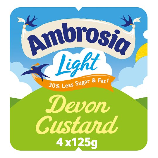 Ambrosia Low Fat Custard 4 X 125G