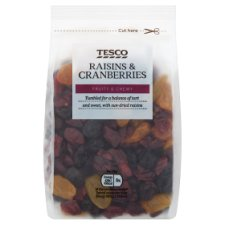 Tesco Raisins And Cranberry Mix 300G