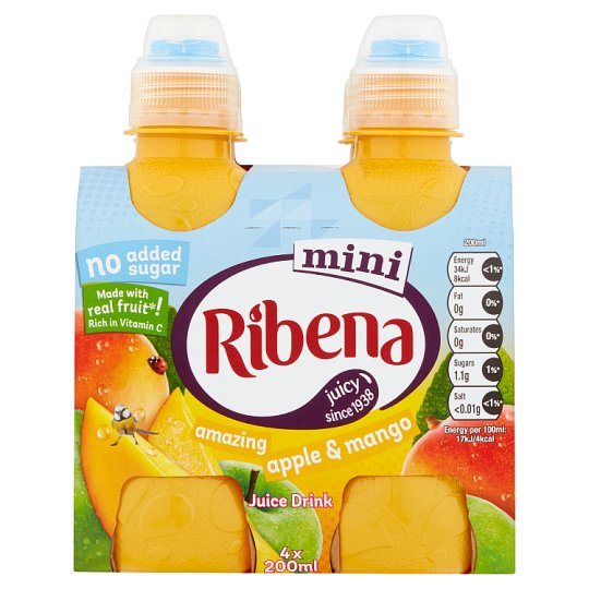 Ribena Mini Apple&Mango 4 X 200Ml