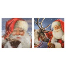 Tesco Traditional Santa Cards 10 Pack