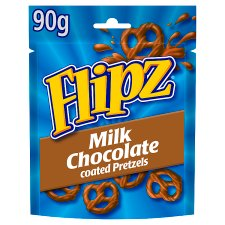 Flipz Milk Chocolate Coated Pretzels 90G