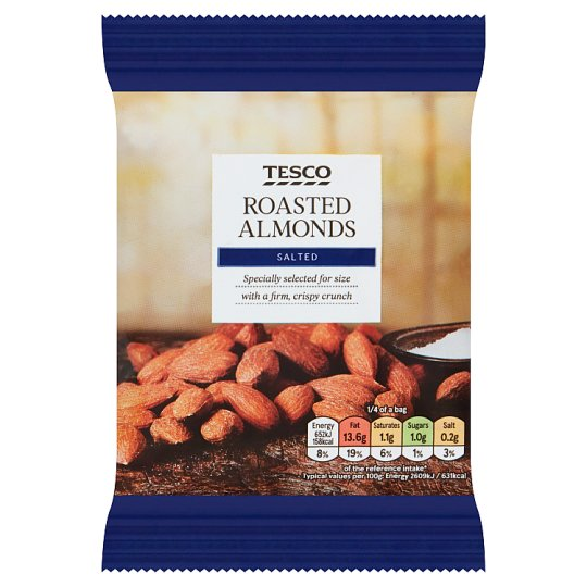 Tesco Roasted And Salted Almonds 100 G