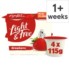 image 1 of Light & Free Greek Style Strawberry Yogurt 4 X 115G