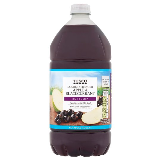 Tesco Double Concentrate Apple And Blackcurrant No Added Sugar Squash 1.5L