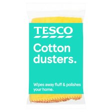 Tesco Yellow Dusters 3 Pack