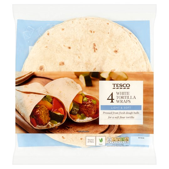 Tesco 4 White Tortillas Wraps