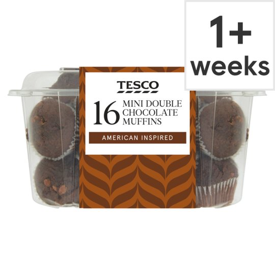 Tesco Double Chocolate Mini Muffins 16 Pack