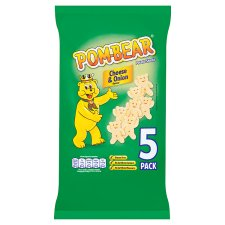 Pom Bear Cheese And Onion 5 X 15G