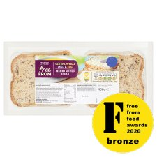 Tesco Free From Seeded Sliced Bread 400G