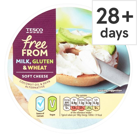 Tesco Free From Soft Cheese 255G