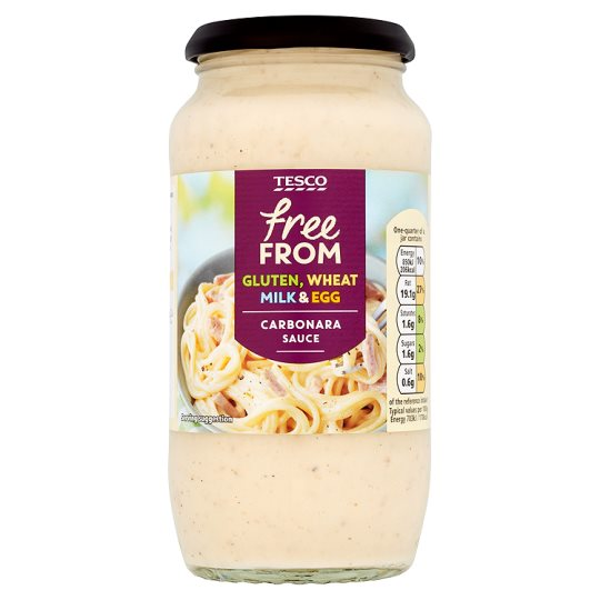 Tesco Free From Carbonara Sauce 480G