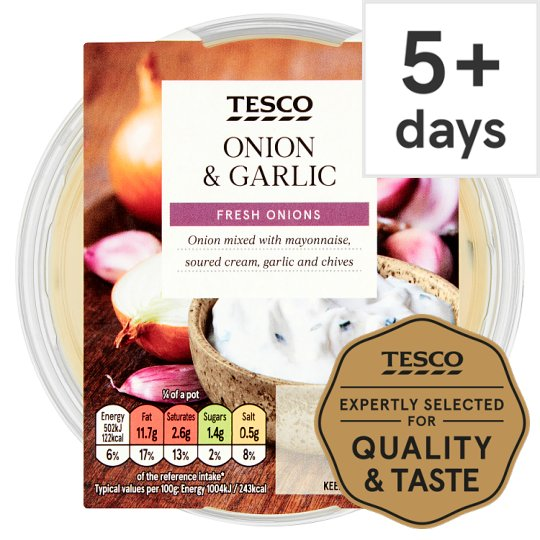 Tesco Onion And Garlic Dip 200G