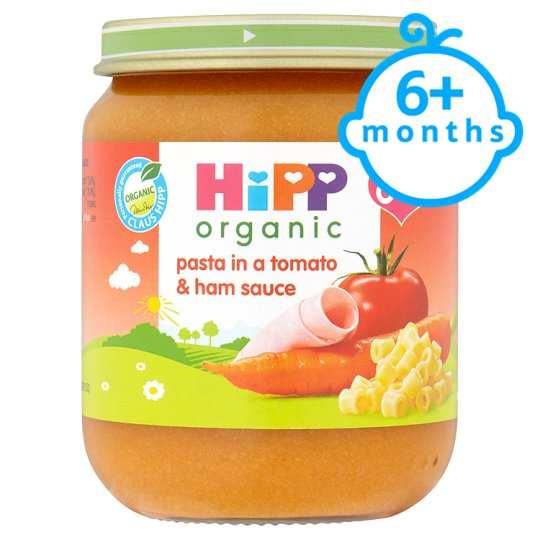 Hipp 6 Month Organic Pasta In Tomato And Ham Sauce 125G