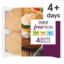 Tesco Free From White Rolls 4 Pack