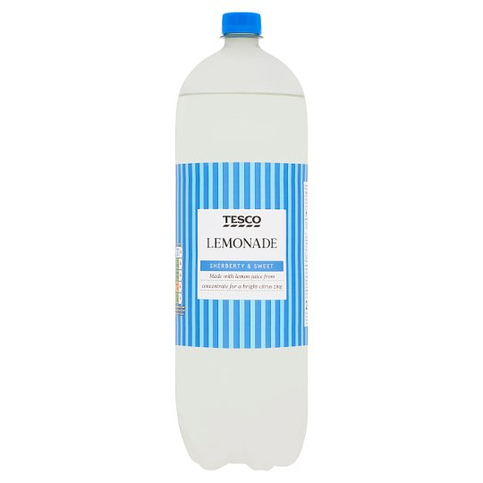 Tesco Sparkling Lemonade 2 Litre Bottle