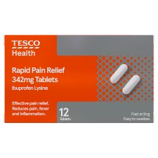 Tesco Rapid Pain Relief Ibuprofen 12S