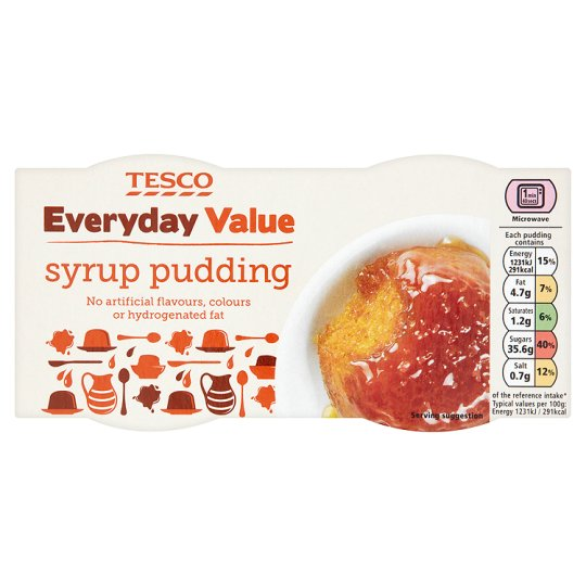 Tesco Everyday Value Syrup Steamed Pudding 200G
