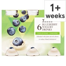 Tesco Cholesterol Reducing Blueberry Yogurt Drink 6 X100g